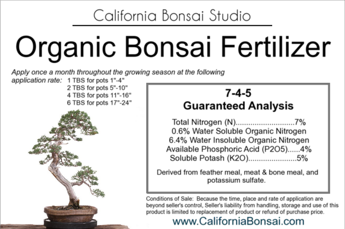 Bonsai Fertilizer California Bonsai Studio